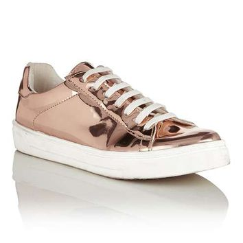 EVELYN Lace Up Trainers - Flat Shoes - Shoes