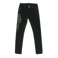 True Religion Womens Embellished Low-Rise Colored Skinny Jeans
