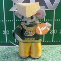 Green Bay Packers Cheese Head Mouse - Super Bowl Fan | MumseysMouseHouse - Fiber Arts on ArtFire
