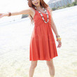 Orange Red Cotton Blended Spaghetti Straps Women's Summer Dress -  Milanoo.com