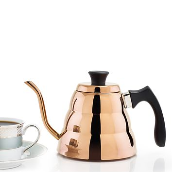 DuraCopper®  Precise Coffee and Tea Pour-Over Kettle by Old Dutch International