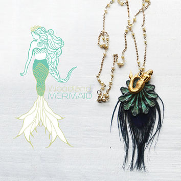 Mermaid Shell Feather Necklace