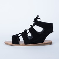 Laced Up Suede Sandals
