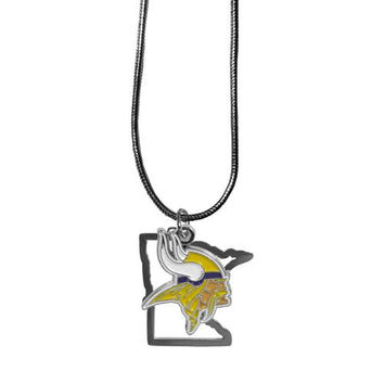 Minnesota Vikings Necklace - State Charm
