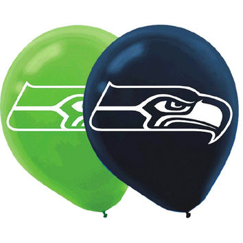 Seattle Seahawks Balloons   6 in pack