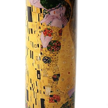 Klimt The Kiss Ceramic Tealight Candleholder 5.75H