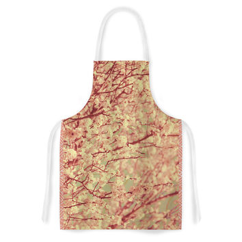 "Ingrid Beddoes ""Vintage Blossoms"" Orange Flower Artistic Apron"
