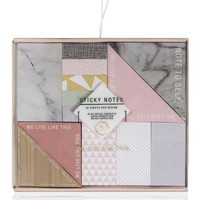 We Live Like This Sticky Note Set in Blush Pink, Marble, and Gray