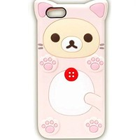 iPhone 6S Case, Anya 3D Cute Lovely Cartoon Animal Soft Rubber Silicone Back Shell Case Cover for Apple iPhone 6 6S Bear Pink