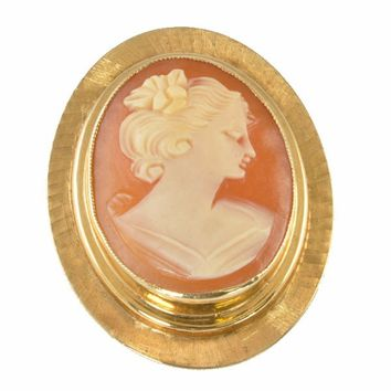 Vintage Cameo Brooch - Gold Filled Setting 1960s