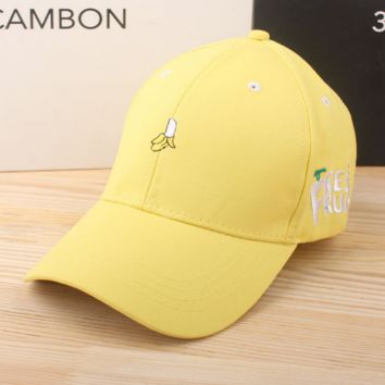 Banana Embroidered Baseball Cap Hat