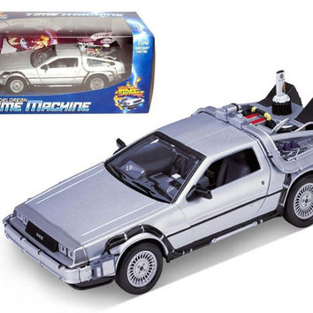 """Delorean From Movie """"Back To The Future 2"""" 1-24 Diecast Car by Welly"""