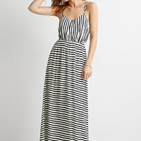Stripe Cutout-Back Maxi Dress