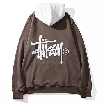 Boys & Men Stussy Fashion Casual Top Sweater Pullover Hoodie