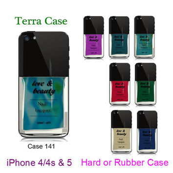 Nail Polish Rubber iphone 5 -  iPhone Case - , iPhone 4 - iPhone 4s  iPhone cover, iPhone hard case- Rubber Case