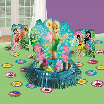 "Disney Tinkerbell and the Fairies 3-D Birthday Party Table Decorating Kit (12 Pack), Multi Color, 12 3/5""."