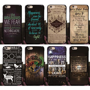 2016 Retro Harry Potter Case For iPhone 6 6G 6S Hard PC Plastic Back Covers