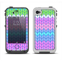 The Bright-Colored Knit Pattern Apple iPhone 4-4s LifeProof Fre Case Skin Set