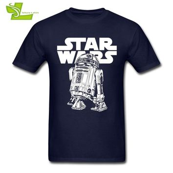 Star Wars Force Episode 1 2 3 4 5 Classic R2D2 T Shirt  Men Summer 100% Cotton Graphic Tees Adult Newest Plus Size Clothing Cool Normal Guys Tee Shirt AT_72_6