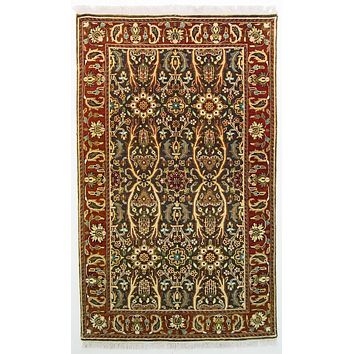 Oriental Sultanabad Antique Wool Tribal Rug, Dark Brown/Red