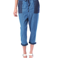 Dive Into The Blue Denim Trousers