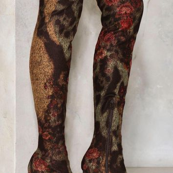 Nobody's Flower Over-the-Knee Boot