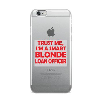 Blond Loan Officer Drawstring iPhone Case