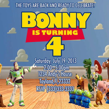 DIY Printable Toy Story Invitation