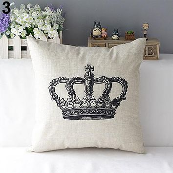 """Euro Crown 17"""" Accent Pillow Cover in Natural"""