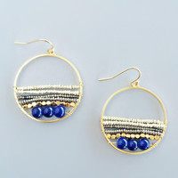 Midsummer Kiss Hoop Earrings