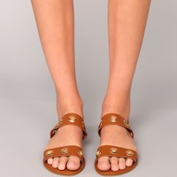 To Get To You Sandals - Tan