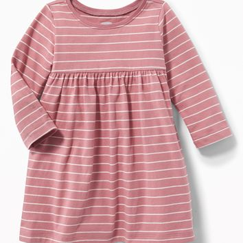 Patterned Jersey Babydoll Dress for Baby|old-navy