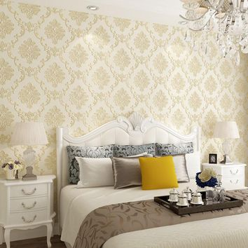 Europe Classic Damascus Pattern 3d Wallpaper Living Room Decor Wall Paper Self Adhesive Behang Bedroom Mural Papel Parede QZ016