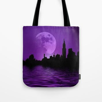 Purple City Tote Bag by InDepth Designs