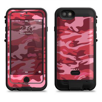 The Pink and Red Tradtional Camouflage  iPhone 6/6s Plus LifeProof Fre POWER Case Skin Kit
