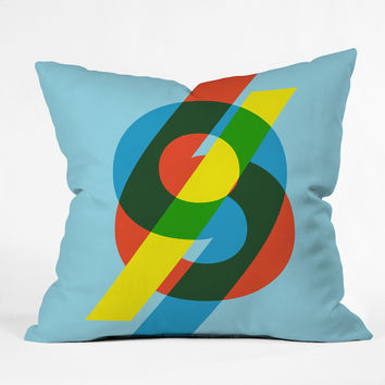 Budi Kwan 69 Blue Throw Pillow