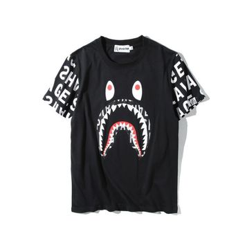 Cotton Short Sleeve T-shirts Strong Character Bottoming Shirt [211450167308]