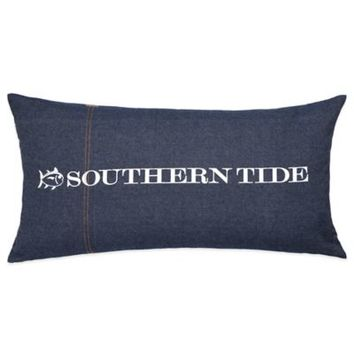 Southern Tide Indigo Oblong Throw Pillow in Indigo