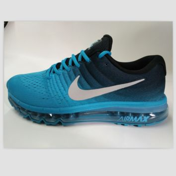 NIKE Women Men Running Sport Casual Shoes Sneakers Black Blue