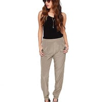 Gray Harem Pants with Stretchy Cuffs