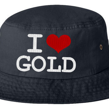i love gol bucket hat
