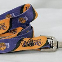 NBA Los Angeles Lakers Pet Lead, Medium, Team Color