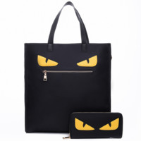 Fendi 2018 Fashion Wild Two Piece Women's Shoulder Messenger Bag black