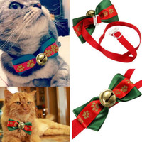 Christmas Cat Bow Bell Collar
