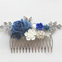 Blue Valentine Hair Comb