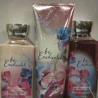Bath and Body Works Be Enchanted Gift Set: Includes 10 Oz Shower Gel, 8 Oz Triple Body Moisture Cream, and 8 Oz Body Lotion