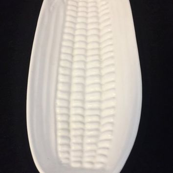 Vintage White Ceramic Corn Holders, Vintage Accessories, Kitchen, Dining, Home And Living