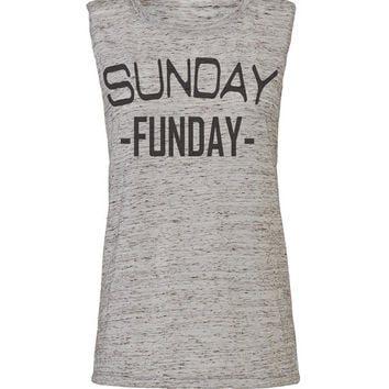 sunday funday workout tank workout top workout womens party tank party top workout clothes gym tank gym shirts fitness tank activewear