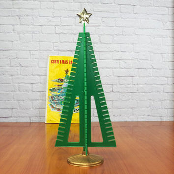Vintage Table Top Christmas Card Tree | Christmas Card Holder | Christmas Card Display | Centerpiece
