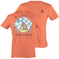 "Simply Southern ""Life Is Good"" Tee - Coral"